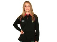 Wales Black Rugby Shirt